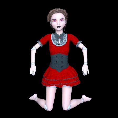 3d doll: female robot