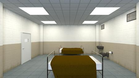 washstand: isolation room