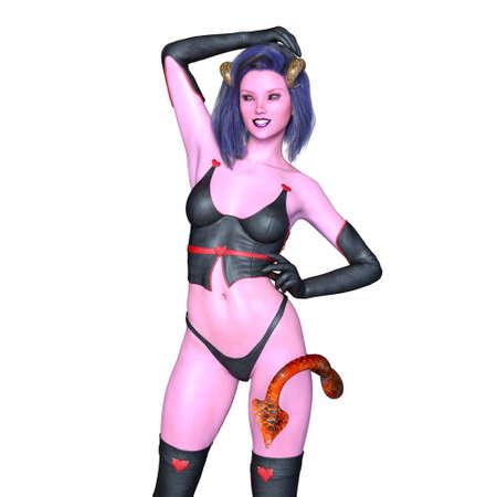 daemon: devil woman Stock Photo