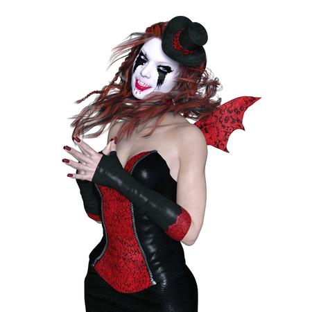 daemon: horror makeup woman