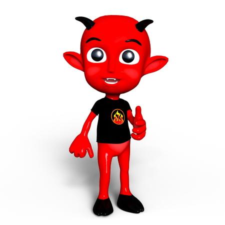daemon: baby devil Stock Photo