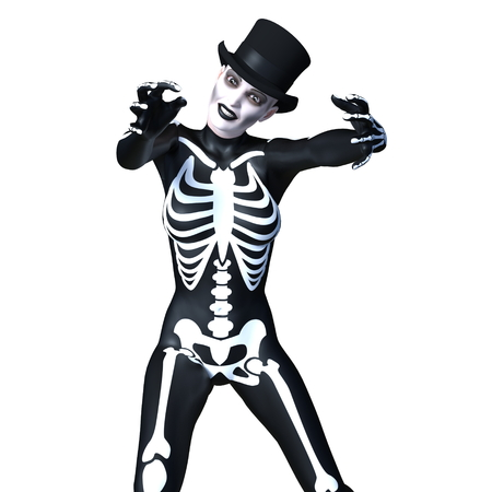 skeleton costume woman