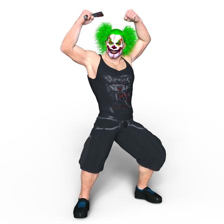 hatchet man: clown makeup man