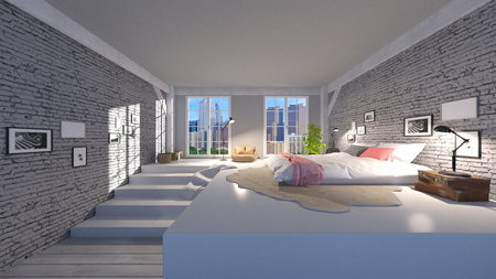 room: bed room Stock Photo