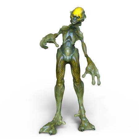 creepy alien: monster