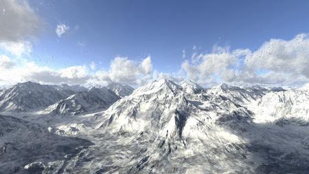 montañas nevadas: montañas nevadas