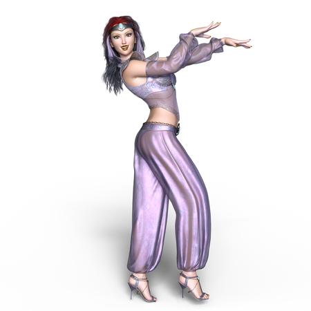danseuse orientale: danseuse du ventre Banque d'images