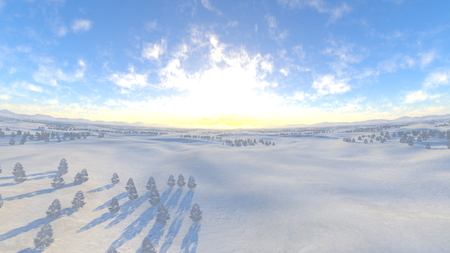 snowy field: snowy field Stock Photo