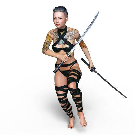 esgrimista: tirador de sexo femenino Foto de archivo