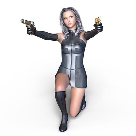 cuerpo entero: female warrior