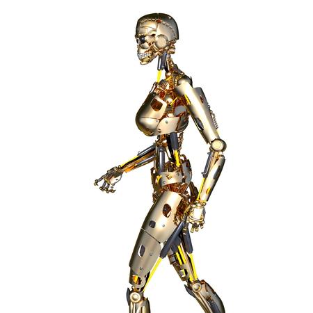 女性ロボット 写真素材
