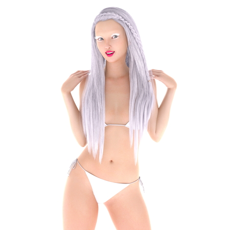 cuerpo entero: mujer de bikini Foto de archivo