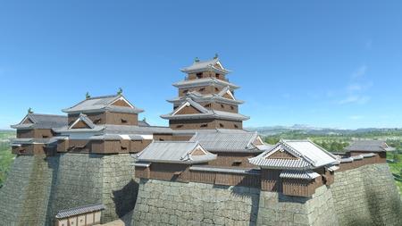 Japanese castle Imagens