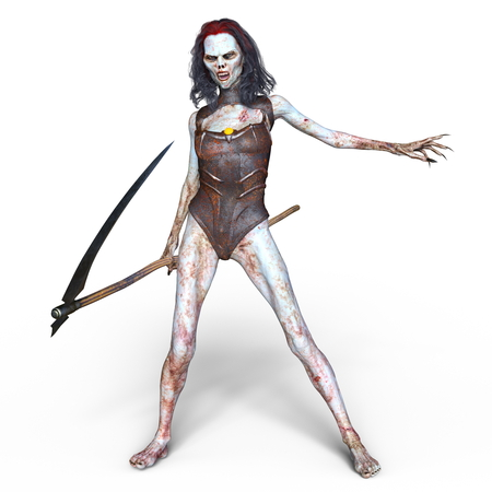 sickle: female zombie