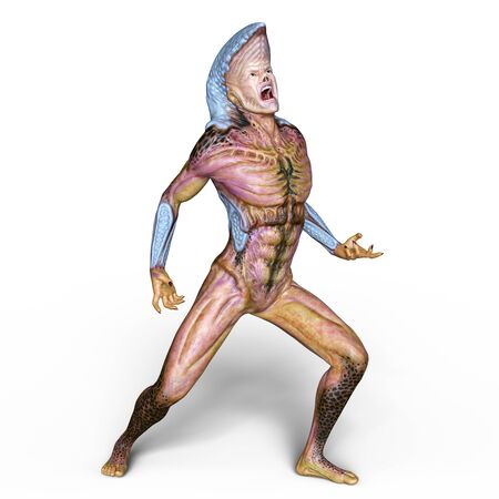 fearful: cobra man Stock Photo