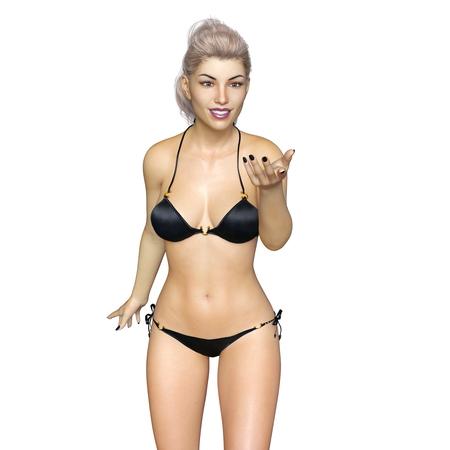 cuerpo entero: mujer bikini