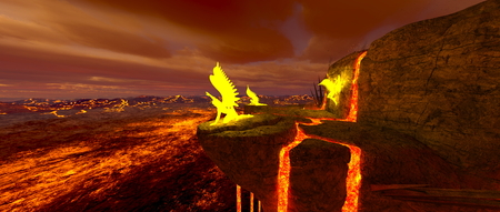 eruption: volcano fort