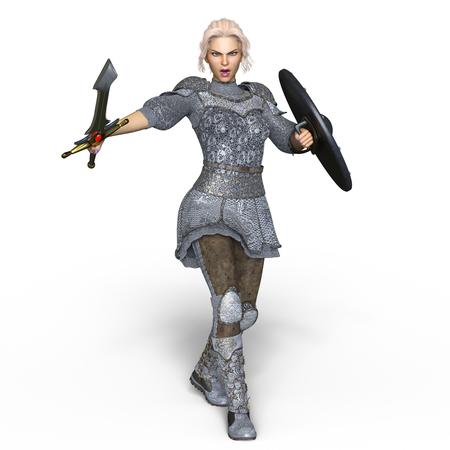 female knight Stock Photo