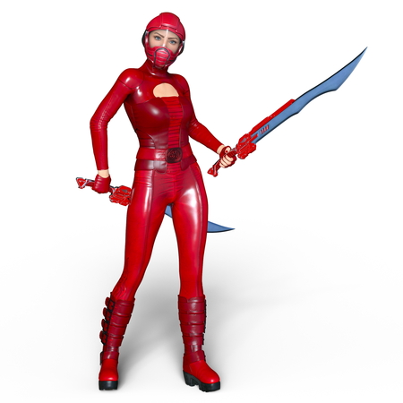 super woman fencer