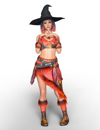 cuerpo entero: bruja disfraz mujer