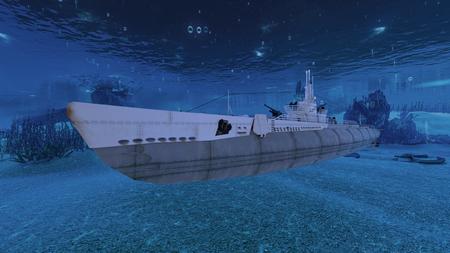 submarine 版權商用圖片 - 89432058