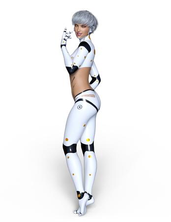 female cyborg 写真素材