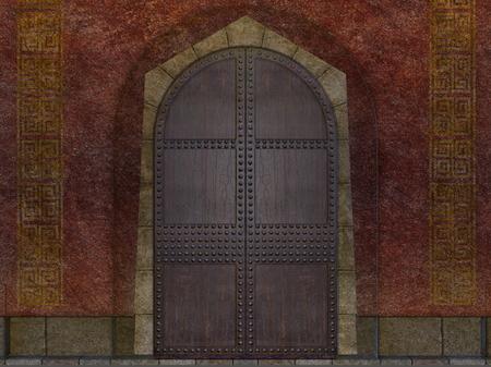 underground temple door Stock Photo