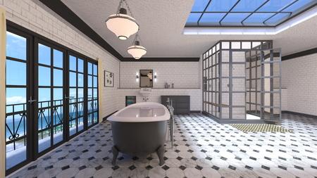 Salle de bains Banque d'images - 91970134