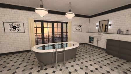 Salle de bains Banque d'images - 91970283