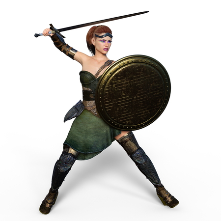 female knight Stock Photo