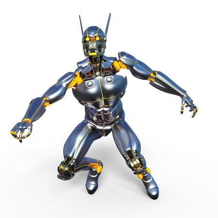 Robot build - 3D render