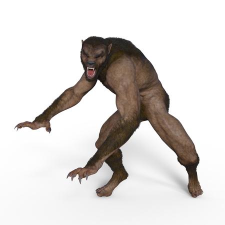 3D werewolf
