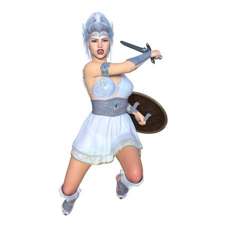 female knight Foto de archivo
