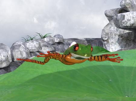 parachute frog