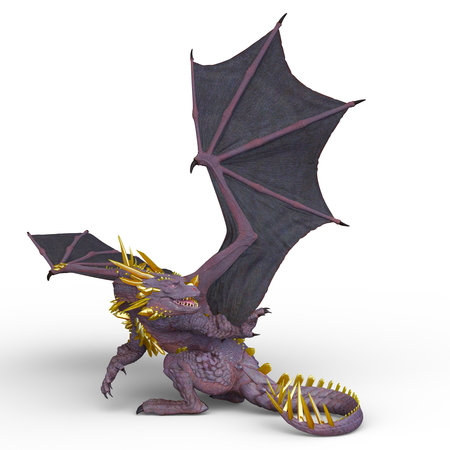 Dragon creature in 3d animation