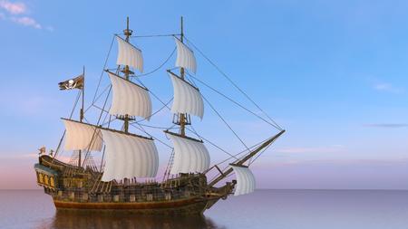 sailing boat  in 3d rendering Standard-Bild
