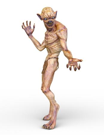 3D CG rendering of monster Foto de archivo - 106296417