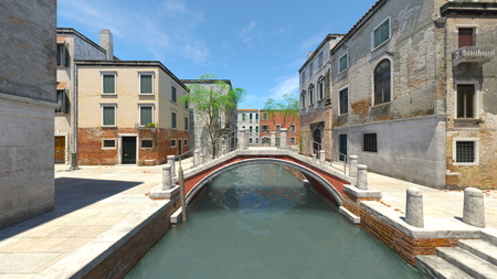 3D CG rendering of waterway