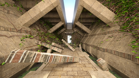 3D CG rendering of remains Reklamní fotografie