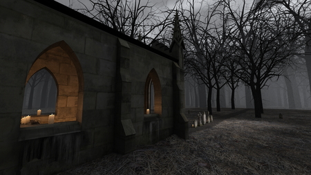Church and Grave