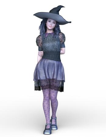 3D CG rendering of Magical girl 写真素材
