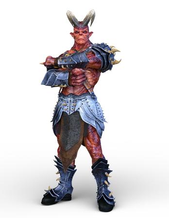 3D CG rendering of Armed monster