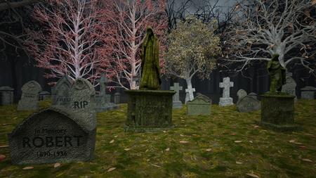 3D CG rendering of Grave