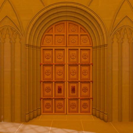 3D CG rendering of church Stock Photo