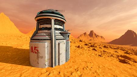 3D CG rendering of space probe