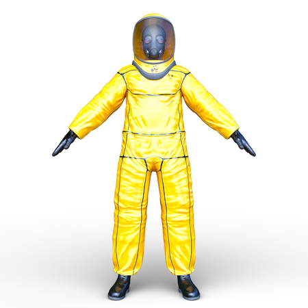 3D CG rendering of spaceman 写真素材