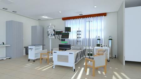 3D CG rendering of Medical space Stockfoto