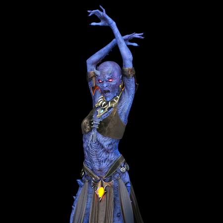 3D CG rendering of Demon dancer
