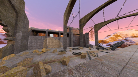 3D CG rendering of ruins