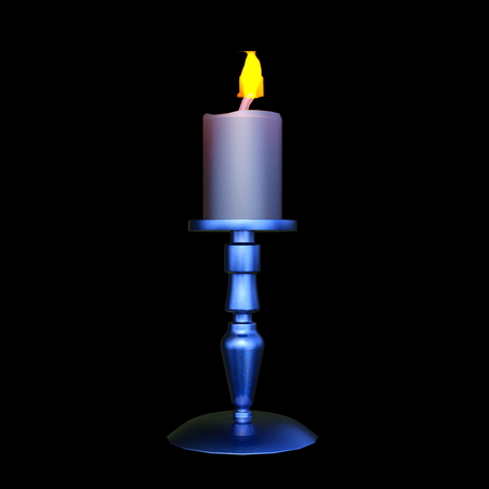 3D CG rendering of Candle Stock Photo